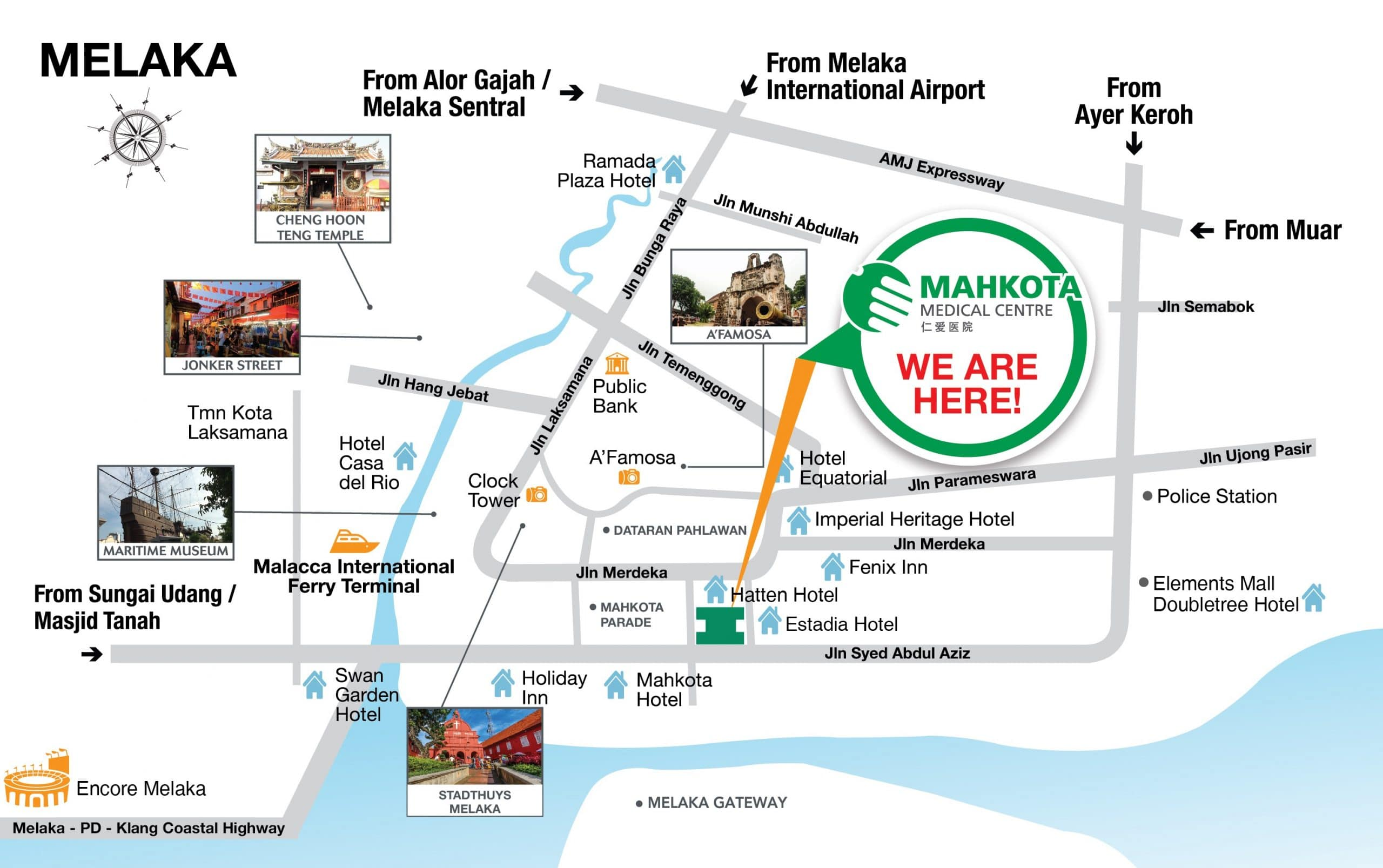 mahkota medical transport map